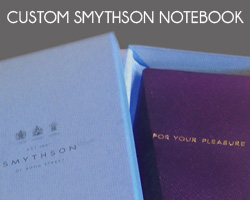 Smythson custom For Your Pleasure Panama notebook