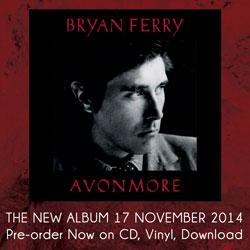 Bryan Ferry Avonmore Pre-Order Now