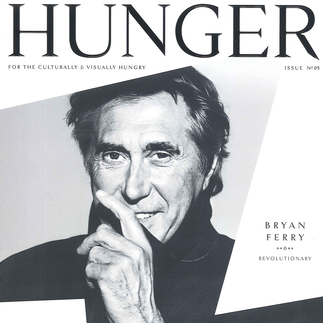 Bryan Ferry Hunger Magazine Cover